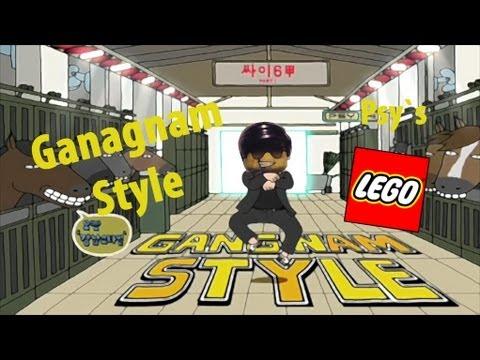 Смотреть онлайн бесплатно PSY - LEGO GANGNAM STYLE (강남스타일) M/V