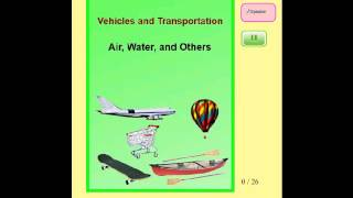 Audio Flashcards for Kids - Transportation - Land Vehicles