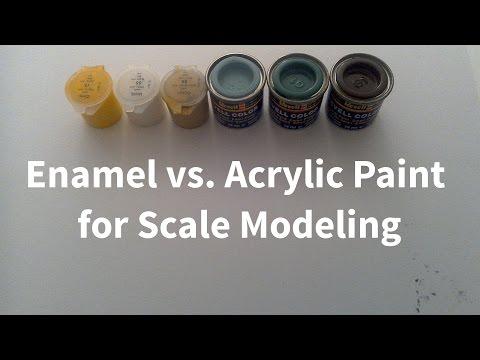 Enamel vs. Acrylic Paint for Scale Modeling