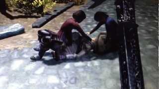 Skyrim Glitch. Little Girls Molesting Lydia's Dead Body.