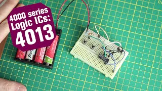 4000 Series Logic ICs : The 4013 Dual D-type Flip-Flop
