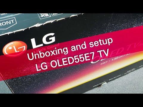 LG OLED55E7 4K UHD OLED TV unboxing