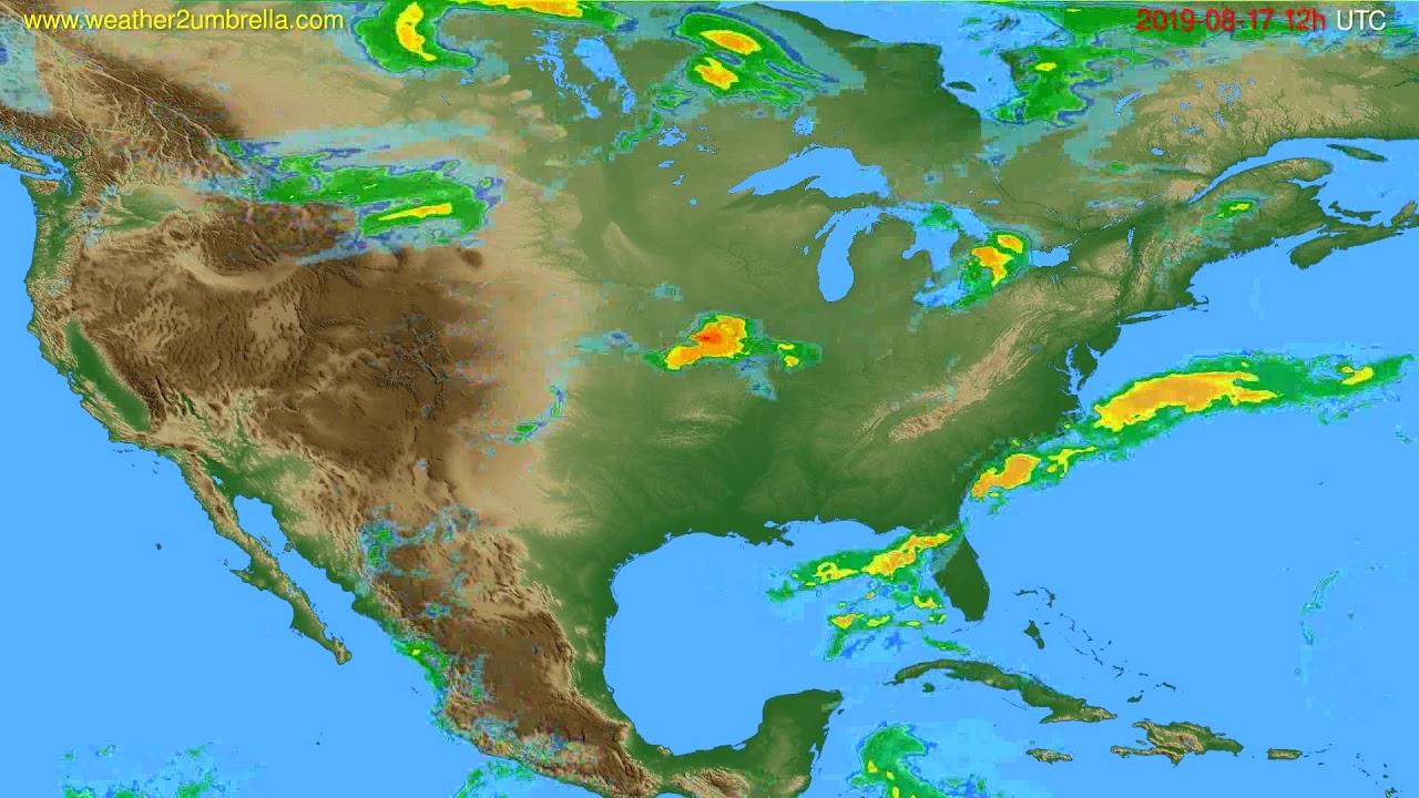 Radar forecast USA & Canada // modelrun: 00h UTC 2019-08-17