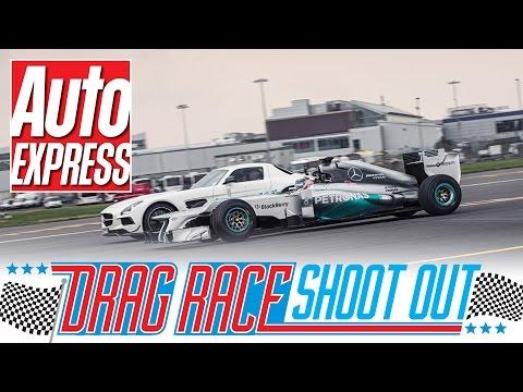 Vilken bil är snabbare Mercedes SLS AMG Black eller F1-bil