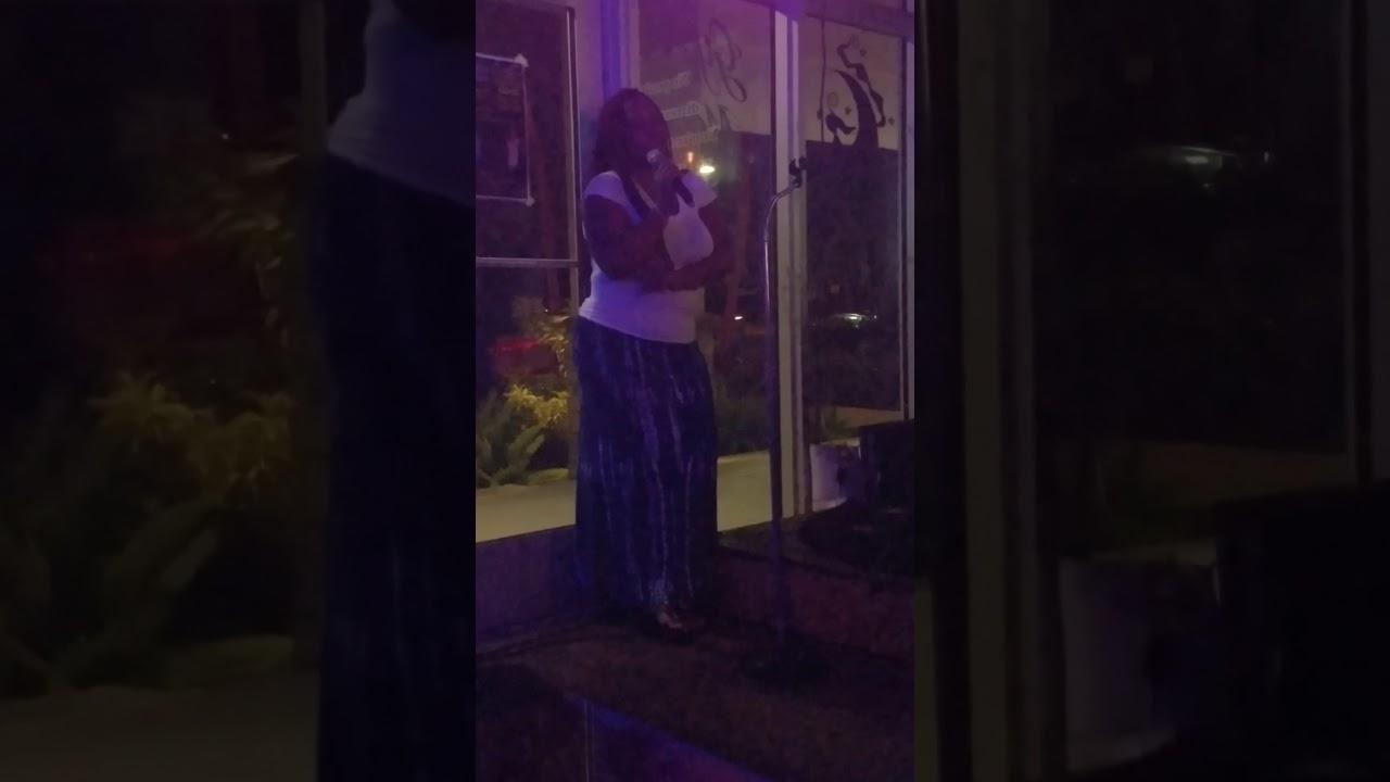 Tiffany @ Gypsy Moon Vapin Brews singing karaoke