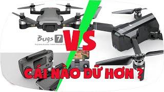 LKRC - So Sánh Flycam MJX Bugs 7 và SJRC F11 Con Nào Dữ Hơn?