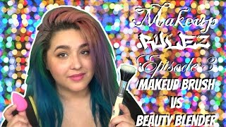 Makeup Brush vs Beauty Blender ~Makeup Rulez: Episode 3~ (NoBlandMakeup)