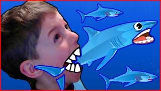 Хищняя рыбка Tasty Blue - игра для детей про рыбку, дельфинчика, акулу 1