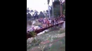 Video Jembatan Hutan Kota Langsa Ambruk