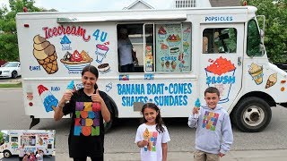 Kids Buy Ice Cream from the Ice Cream Truck Pretend Play Compilation