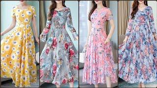 New Styles Womens Floral Print Maxi Dress Design 2020