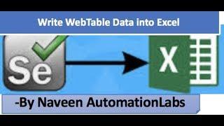 Write WebTable values into Excel Sheet in Selenium with Apache POI API