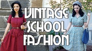 VINTAGE ACADEMIA FALL LOOKBOOK | 1940s Inspired Back To School Outfits!
