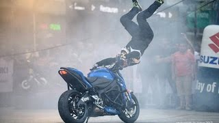 Suzuki Gixxer 2018 Launch with Stunt Rider - ARAS GIBIEZA