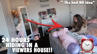 i spent the night in a FANS house for 24 hours .. * she had no idea *