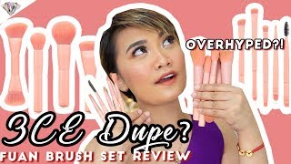 PHP 430 NA 3CE DUPE BRUSHES REVIEW | MAKEUP BRUSH FOR BEGINNERS | OVERHYPED BA? | MAE LAYUG