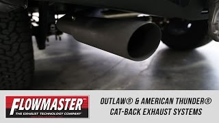 Freedom Ford: Flowmaster Outlaw® and American Thunder® Cat-Back Exhaust Systems