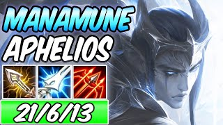 FULL CRIT MANAMUNE APHELIOS ADC Full Burst | New Build & Runes | League of Legends Gameplay