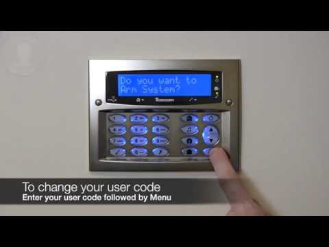 How to change your user code on a Texecom Premier Elite system