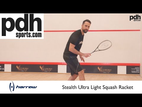 Harrow Stealth Ultralite Squash racket reviewed by PDHSports.com