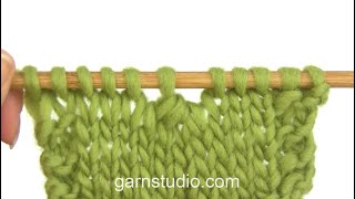 How to knit 4 stitches together (decrease)