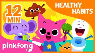 Bath Time song and 9+ songs| Healthy Habits Songs | + Compilation | Pinkfong Songs for Children