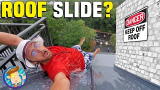 Don't Slide off the Roof!  FATHERS DAY @ the BEACH (FV Family Vacation Vlog w/ Special Recipe)