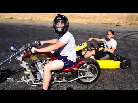 Racing My 200cc Mini Chopper VS Go Kart