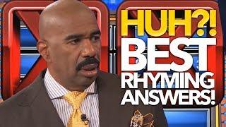 BEST & Funniest RHYMING ANSWERS Steve Harvey Has EVER Heard On Family Feud | Bonus Round