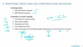 calculate and interpret financial ratios used in credit analysis;