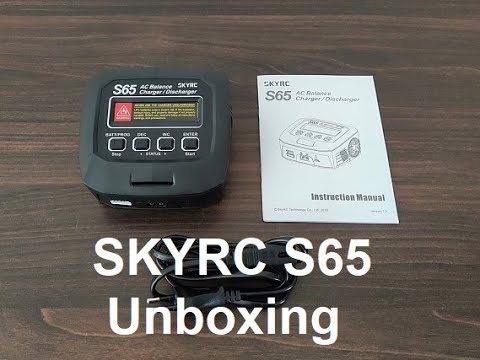 SKYRC S65 65W 6A AC Balance Charger/Discharger Unboxing