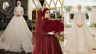 Stylish Wedding Dresses With Hijab In Westren Designs By Mehr Malik Fashion N Beauty