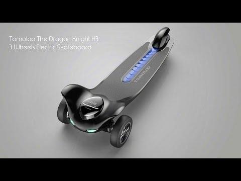 TOMOLOO The Dragon Knight 3 Wheels Electric Skateboard