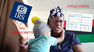 IRS Where's My Refund | IRS transcripts | Transcript codes, cycle codes