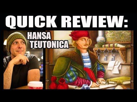 Finbar's Quick Reviews: Hansa Teutonica