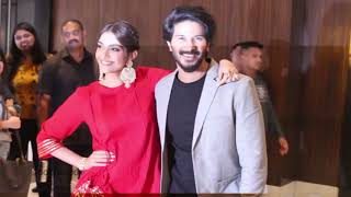 Sonam Kapoor with Dilquer Salman promoting their upcoming film   The Zoya Factor