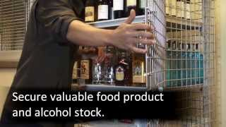 Secure Your Valuable Inventory with the Full Wrap Cambro Security Cage