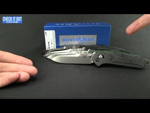 "Benchmade 940 Osborne AXIS Lock Knife Green (3.4"" Black Serr) 940SBK"