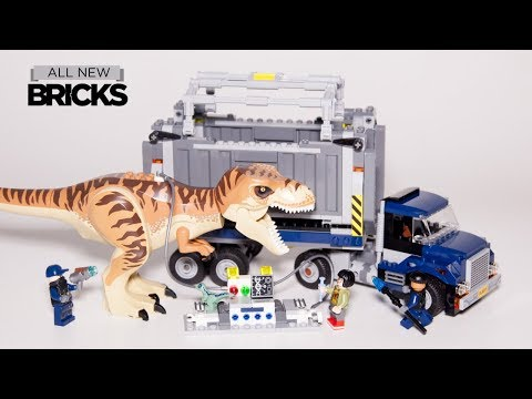 Vidéo LEGO Jurassic World 75933 : Le transport du T. rex