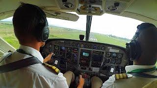 Полет на маленьком самолете в Африке