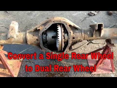 Convert a Single real Wheel to Dual rear Wheel
