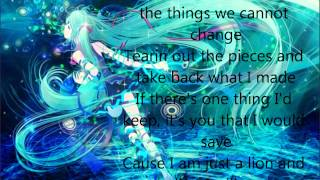 Lion - Nightcore with lyrics