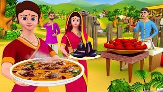 Brinjal Curry Food Tamil Story | கத்திரிக்காய் கறி தமிழ் கதை - 3D Animated Stories | Maa Maa TV