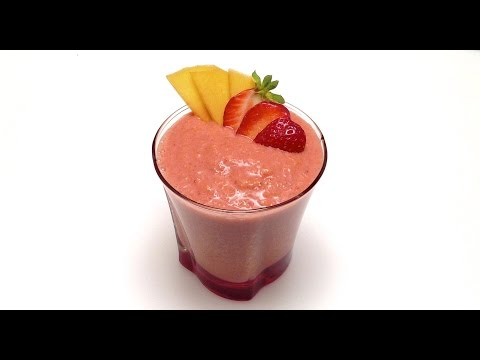 Video How to Make a Strawberry Peach Smoothie in One Minute (HD)