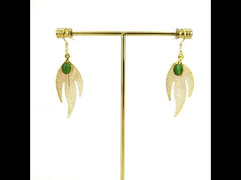 Lucky Leaf - Real Leaf Dangle Earrings