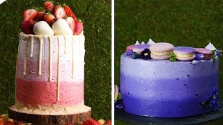 How to Frost the Perfect Ombré Cake!!! Cake Decoration Tutorial for Beginners