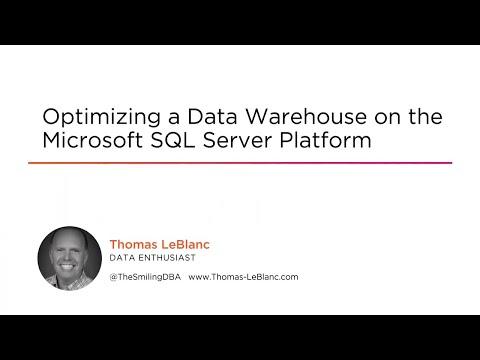 Microsoft SQL Server Skills: Optimizing a Data Warehouse Course ...