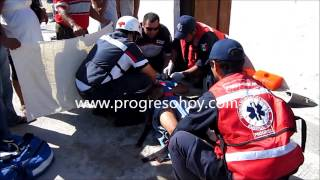 preview picture of video 'ProgresoHoy.com -- Atropellan a motociclista en Progreso'