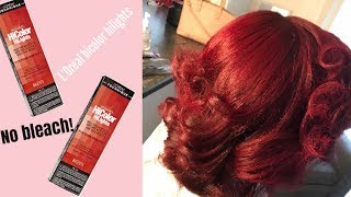 How to dye your hair Red without Bleach ft. Loreal HiColor Highlights Magenta & Red