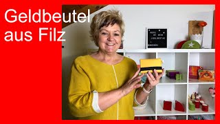 DIY Ruckzuck Projekt - praktischer Geldbeutel aus Filz